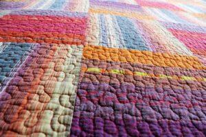 Multi colored quilt example