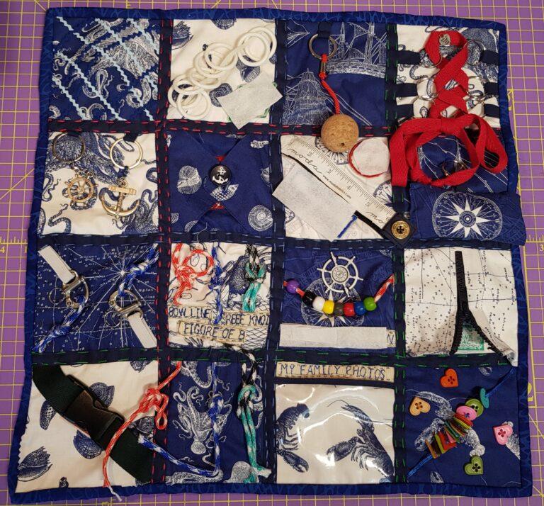 Fidget Blanket Sailing Theme