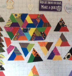 How the Scrap Quilt was put together using Trapeziums